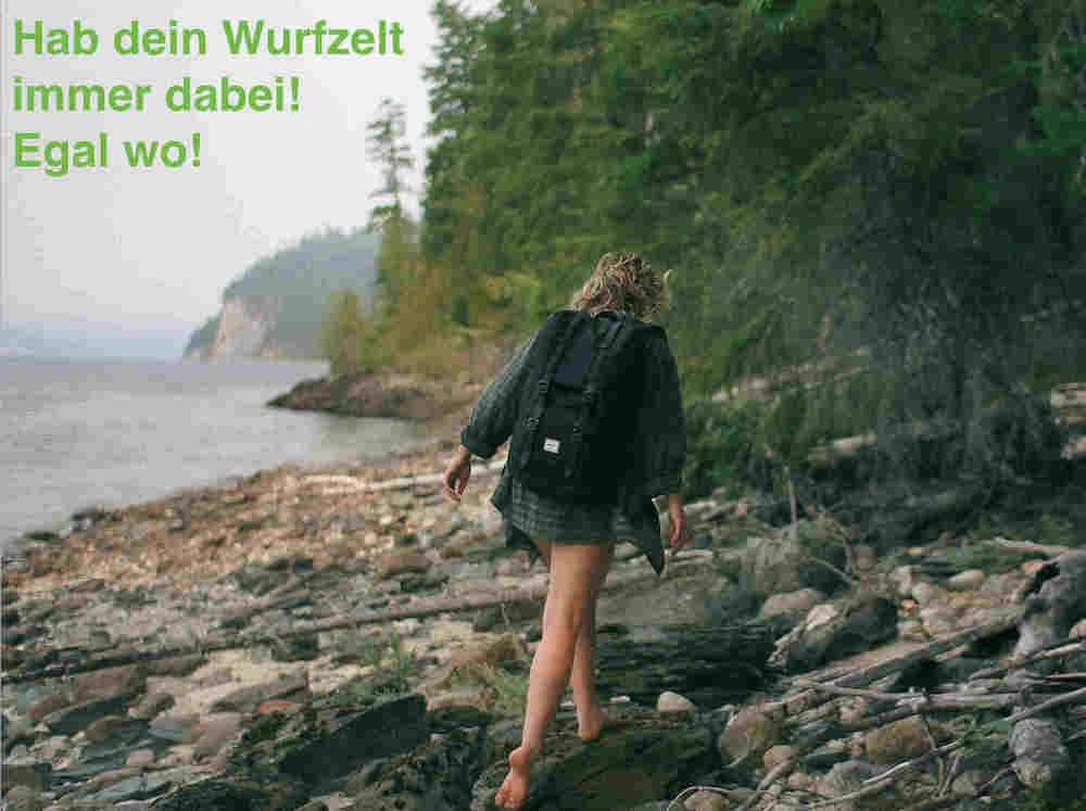 Wurfzelt-test-outdoor-frau